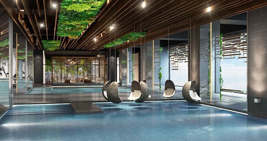 bể bơi dự án Sun Group 125 Văn Cao